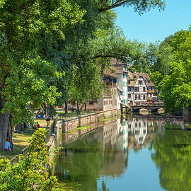 A Canal in Strasbourg France by W Chris Fooshee