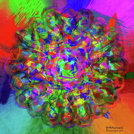 A Childs Mandala Outside The Lines by Diane Parnell