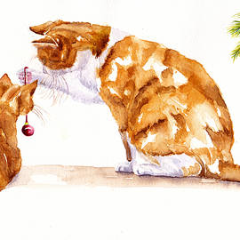 A Christmas Lesson Mother and Kitten by Debra Hall