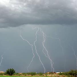 A Dance of Seven Lightning Bolts, Palominas, AZ, USA by Derrick Neill