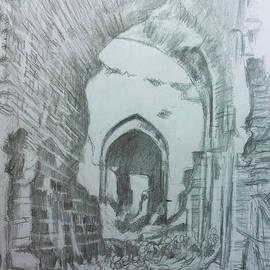 A destroyed heritage market - Aleppo by Mohammad Hayssam Kattaa