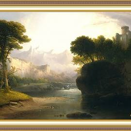 A Fanciful Landscape After The Original Artwork By Thomas Tabor Doughty. L A S With Printed Frame. by Gert J Rheeders
