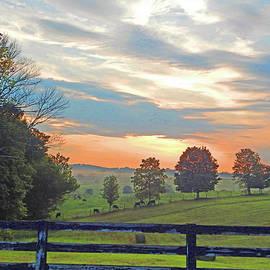 A Farm At Sunrise by Robert Tubesing