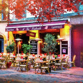 A French Restaurant Vieux Lyon France  by Carol Japp