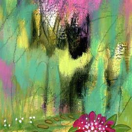 A Fresh Start 2 Abstract Garden Botanical Painting by Itaya Lightbourne