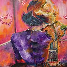 A Girl and Her Cat by Stacia Riccio