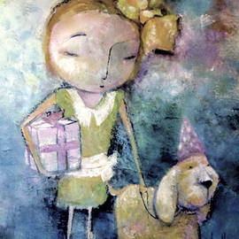 A Girl and Her Dog by Eleatta Diver