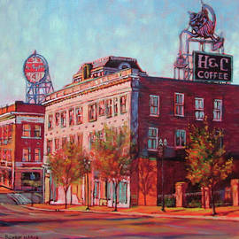 A Good Blend - H and C Coffee Sign and Dr. Pepper Sign in Roanoke Virginia by Bonnie Mason