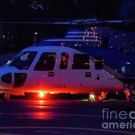 A HeliJet Sikorsky S-76C Flashing Beacon at Victoria Heliport by Joe A Kunzler