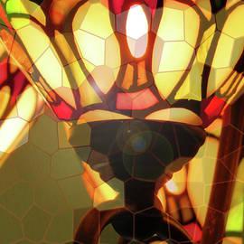 A Lamp Unto My Feet - Light Source - Photographic Art - Stained Glass Fixture by Brooks Garten Hauschild