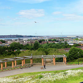 A Lovely Aerial of Liverpool, England, from Everton Park, UK, GB by Derrick Neill