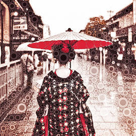 A Maiko in Gion by Susan Maxwell Schmidt