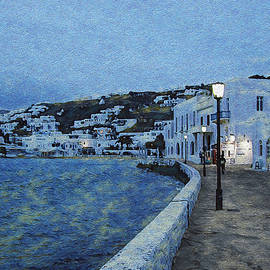A Mykonos Evening by Rolleen Carcioppolo