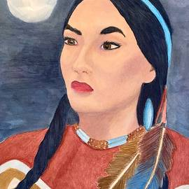 A Native American Woman by Forrest Fortier