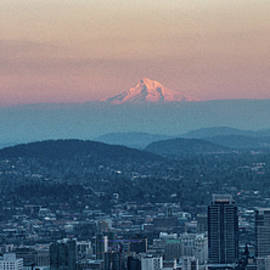 A Panoramic View of PDX From Pittock Mansion by Varma Penumetcha
