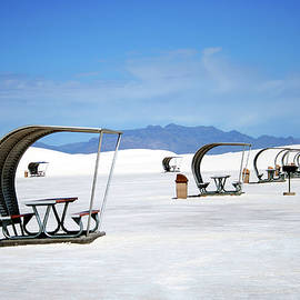 A Picnic Area in White Sands National Monument, NM, USA by Derrick Neill