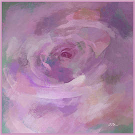 A Pink Rose and Her Aura by Claudia O'Brien