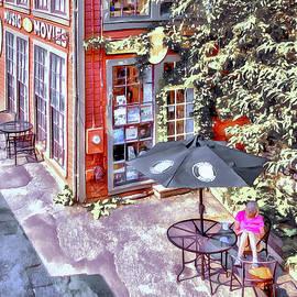 A Quaint City Courtyard by Betty Denise