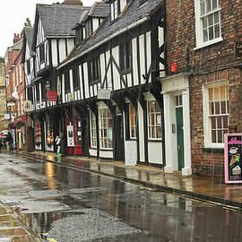 A Rainy High Petergate Street, York, England by Derrick Neill