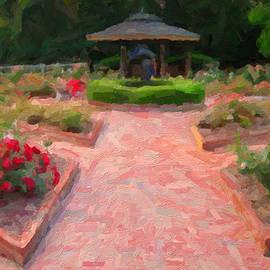 A Rose Garden Welcoming by David Zimmerman