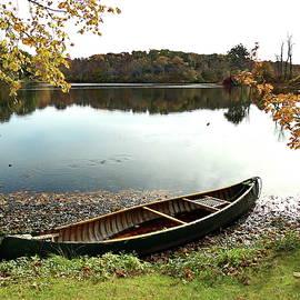A Rowboat on Shawme Pond, Sandwich by Lyuba Filatova
