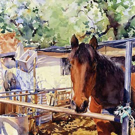 A Rustic Stable by Margaret Merry