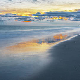 A September Sunset Over Atlantic Beach North Carolina by Bob Decker