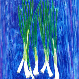 A Sign of Spring - Green Onions by Conni Schaftenaar