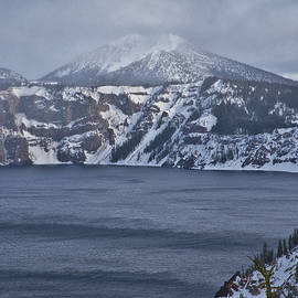 A Snowy Day at Crater Lake by Tom Kelly