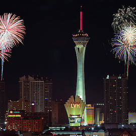 A Stratosphere Fireworks View, Las Vegas, NV, USA  by Derrick Neill