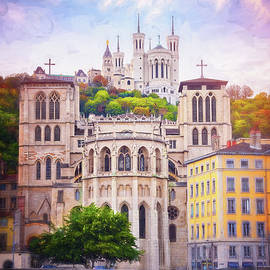 A Tale of Two Churches Lyon France  by Carol Japp