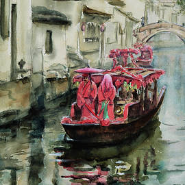 A Traditional Village Boat Wedding on the  Ancient Canal in South China by Xueling Zou