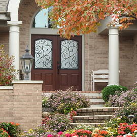A Welcoming Home Entrance by Barbara Ebeling