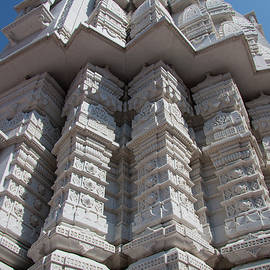 A white artistic temple structure by Ameya M