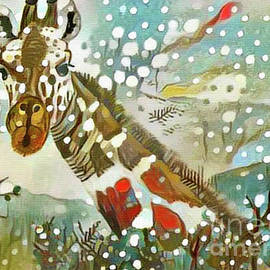 A Winter Giraffe by Nina Silver