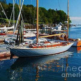 A Yawl at the Dock by Steve Brown