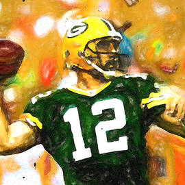 Aaron Rodgers Golden Arm by John Farr