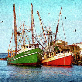 Abandoned Wanchese Trawlers by George Moore