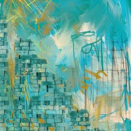 Abstract Art building Blue by Sarah Niebank