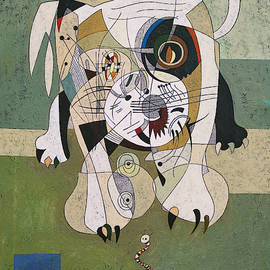 Abstract dog by Artur Hakobjanyan