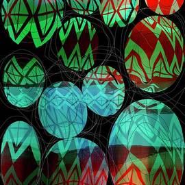Abstract  Eggs in Scribble Hay by Sarah Niebank