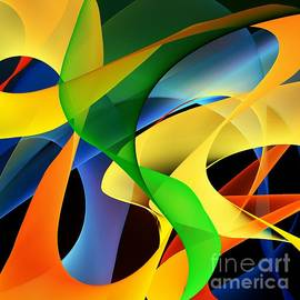 Abstract Expressionism Mind Scape 47 by Sarah Niebank