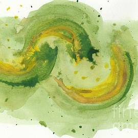 Abstract Expressionism Watercolor salad by Sarah Niebank