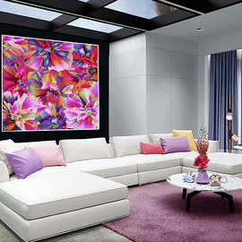 Abstract Floral in Red-in Situ by Grace Iradian