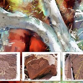 Abstract Gum Tree Aboriginal Art by Pauline Black