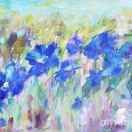 Abstract irises by Olga Malamud-Pavlovich