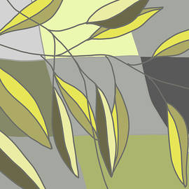 Abstract Leaves 2 by Nancy Merkle