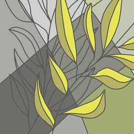 Abstract Leaves 3 by Nancy Merkle