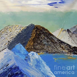 Abstract Mountains by Escudra Art