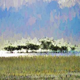 Abstract Painted Beach Scene by Joan Stratton